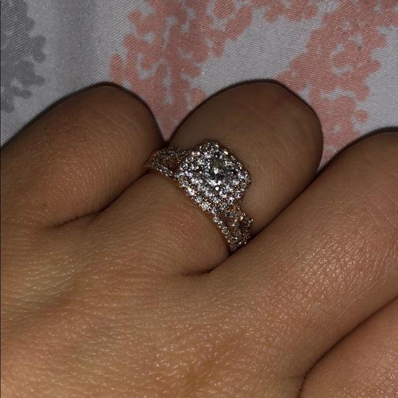 Kay Jewelers Jewelry Rose Gold Engagement Ring Size 55 Poshmark
